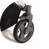 Передние колеса поворотные, при необходимости фиксируются только прямо