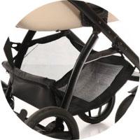 Вместительная корзина для покупок, материал: эко-кожа, сетка